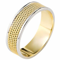 Gold Comfort Fit 7mm Handmade Wedding Band