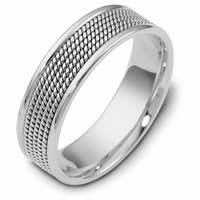 Item # 110481W - 14K White Gold Comfort Fit 7mm Handmade Wedding Ring