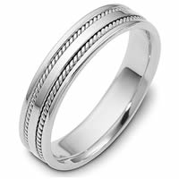 14K White Gold Comfort Fit 5mm Handmade Wedding Ring