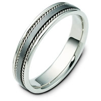 Item # 110491TG - Titanium and 14 K White Gold Wedding Band