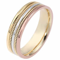 Item # 110511NE - Tri-Color Wedding Band