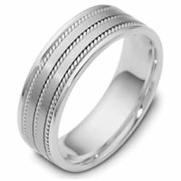 Item # 110531WE - 18K White Gold 7mm Handmade Comfort Fit Wedding Band