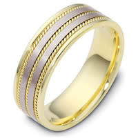 Item # 110531 - Two-Tone Gold Comfort Fit Wedding Band