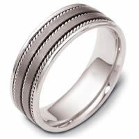 Item # 110531TG - Titanium-14K Gold  Comfort Fit Wedding Band