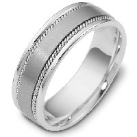Item # 110551PP - Platinum hand made Wedding Ring