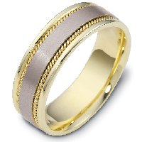 Item # 110551E - 18 kt Hand Made Wedding Ring