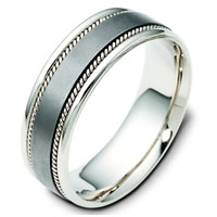 Item # 110551TG - Titanium and 14 K Gold Wedding Band.