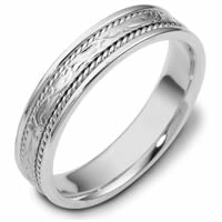 Item # 110561W - 14K White Gold Comfort Fit 5mm Handmade Wedding Band