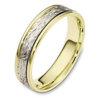 Item # 110581E - 18K Two-Tone Gold Comfort Fit 5mm Wedding Band