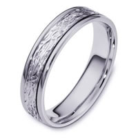Item # 110581WE - 18K White Gold Comfort Fit 5mm Wedding Band