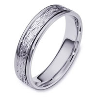 Item # 110581W - 14K White Gold Comfort Fit 5mm Wedding Band