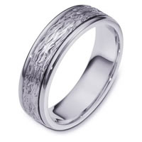 14K White Gold Comfort Fit 6mm Wedding Band