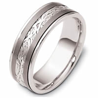 Titanium-Gold Comfort Fit 7mm Wedding Band