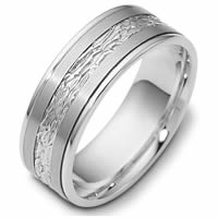 14K White Gold Comfort Fit 7mm Wedding Band