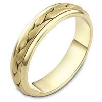 Item # 110611E - 18 kt Hand Made Wedding Band