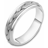 Item # 110611PP - Platinum hand made Wedding Band