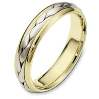 Item # 110621E - 18 kt Hand Made Wedding Band