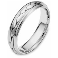 Item # 110621WE - 18 kt Hand Made Wedding Band