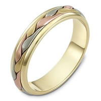 Item # 110641E - Wedding Band 18 kt Hand Made