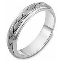 Item # 110641PP - Platinum Hand Made Wedding Band