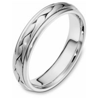 Item # 110661WE - 18 kt Hand Made Wedding Band