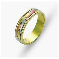 Item # 110681 - 14 kt Hand Made Wedding Band