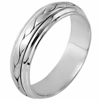 Item # 110711W - 14 kt Hand Made Wedding Band