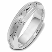 Item # 110721PP - Platinum Hand Made Wedding Band