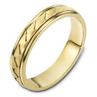 Item # 110731 - 14 kt Hand Made Wedding Band