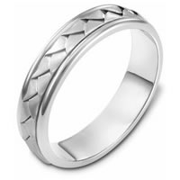Item # 110741W - 14K Hand Made Wedding Band