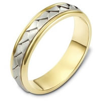 Item # 110741E - 18 kt Hand Made Wedding Band