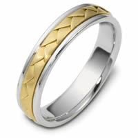 Item # 110751E - 18 kt Hand Made Wedding Band