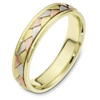 Item # 110771E - 18 kt Hand Made Wedding Band
