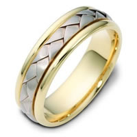 Item # 110781E - 18 kt Hand Made Wedding Band