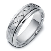 Item # 110781PD - Palladium Hand Made Band Wedding Band