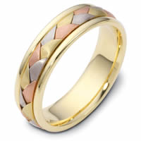 Item # 110791E - 18 kt Hand Made Wedding Ring.
