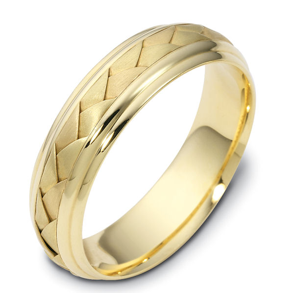 14 kt Hand Made Wedding Ring.