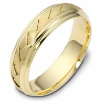 Item # 110801 - 14 kt Hand Made Wedding Ring.
