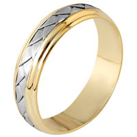 Item # 110811E - 18 kt Hand Made Wedding Band