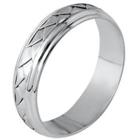 Item # 110811PP - Platinum hand made Wedding Band