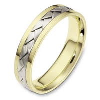 Item # 110831E - 18 kt Hand Made Wedding Band