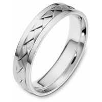 Item # 110831PP - Platinum hand made Wedding Band