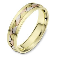 Item # 110841E - 18 kt Hand Made Wedding Band