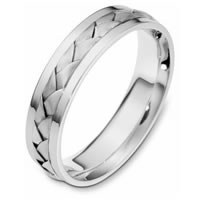Item # 110841PP - Platinum Handcrafted Wedding Band