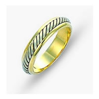 Item # 110851 - Two-Tone Gold Comfort Fit Wedding Band