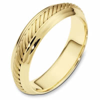 Item # 110871E - 18K Yellow Gold Comfort Fit 4.5mm Handmade Wedding Band