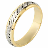 Item # 110881E - 18K Two-Tone Gold Comfort Fit 4.5mm Wedding Ring