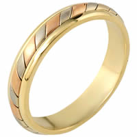 18K Gold Comfort Fit, 4.5mm Wide Wedding Ring