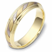 14K Gold Comfort Fit,5.0mm Wide Wedding Band