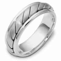 18K White Gold Comfort Fit, 5.5mm Wide Wedding Band